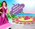 Barbie Coconut Cake Decor