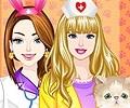 Barbie e Ellie Maquiagem de Veterinária