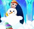 Disney Princess Playing Snowballs