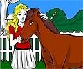 Pinte a Menina e o Seu Cavalo