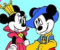Pinte a Minnie e o Mickey