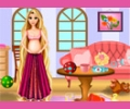 Pregnant Rapunzel Room Cleaning