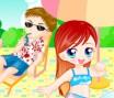 Vestir a Menina no Parque Aquático