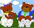 Vista a Família de Ursos