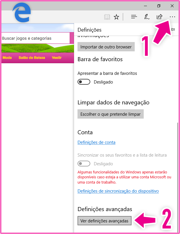 Ativar o Flash Player no Microsoft Edge